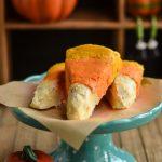 Dessert: Candy Corn Cake Wedges
