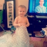 Riley playing with bubble wrap