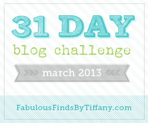 31 Day Blog Challenge March 2013 Button