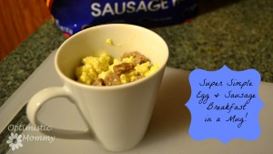 Egg and Sausage Mug with Tyson Fully Cooked Sausage #DoItAllMom #cbias