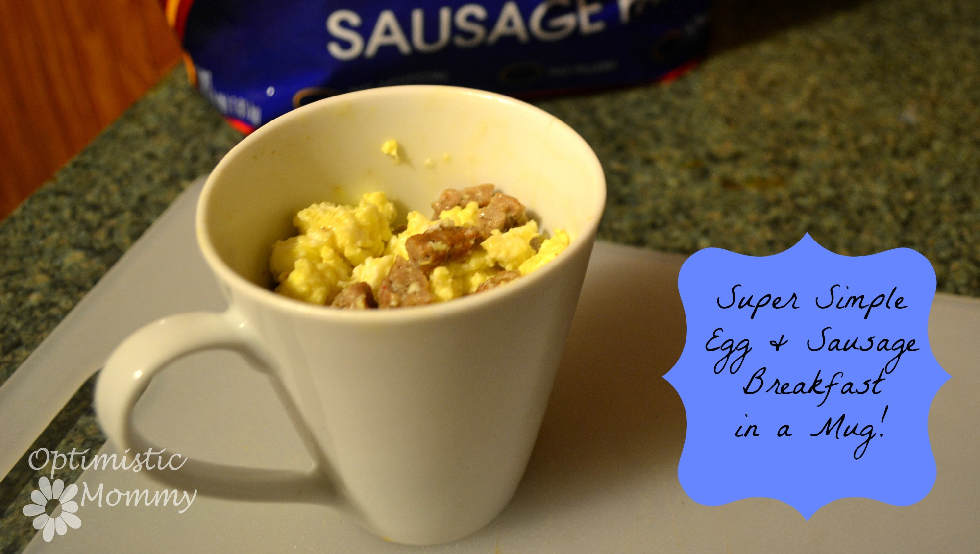 Super Simple Egg and Sausage Mug with Tyson Fully Cooked Sausage Recipe #DoItAllMom #cbias