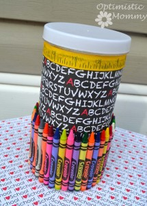 Back To School/Teacher Appreciation Pencil Holder | Optimistic Mommy