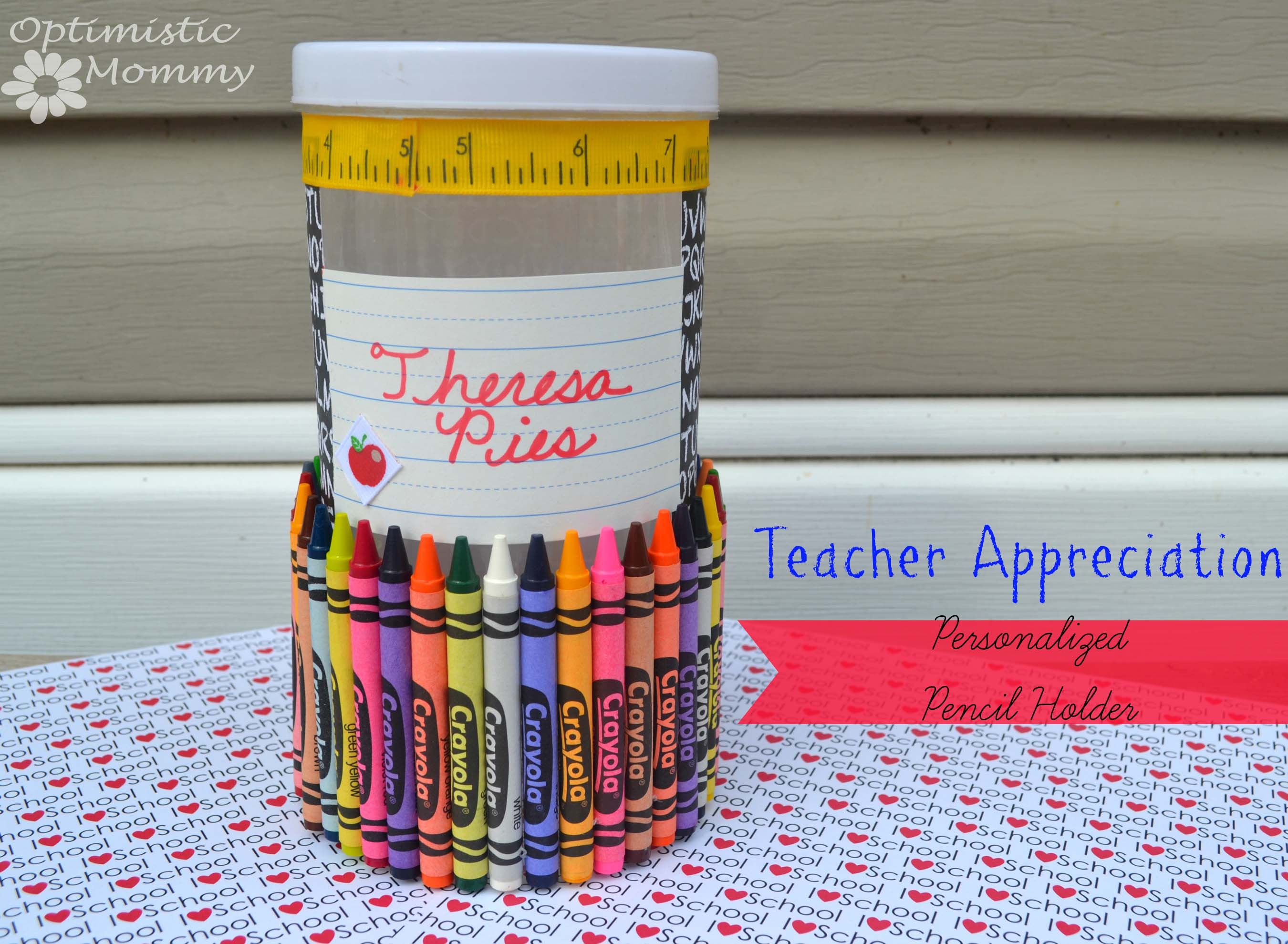 Back To School/Teacher Appreciation Pencil Holder Craft ...