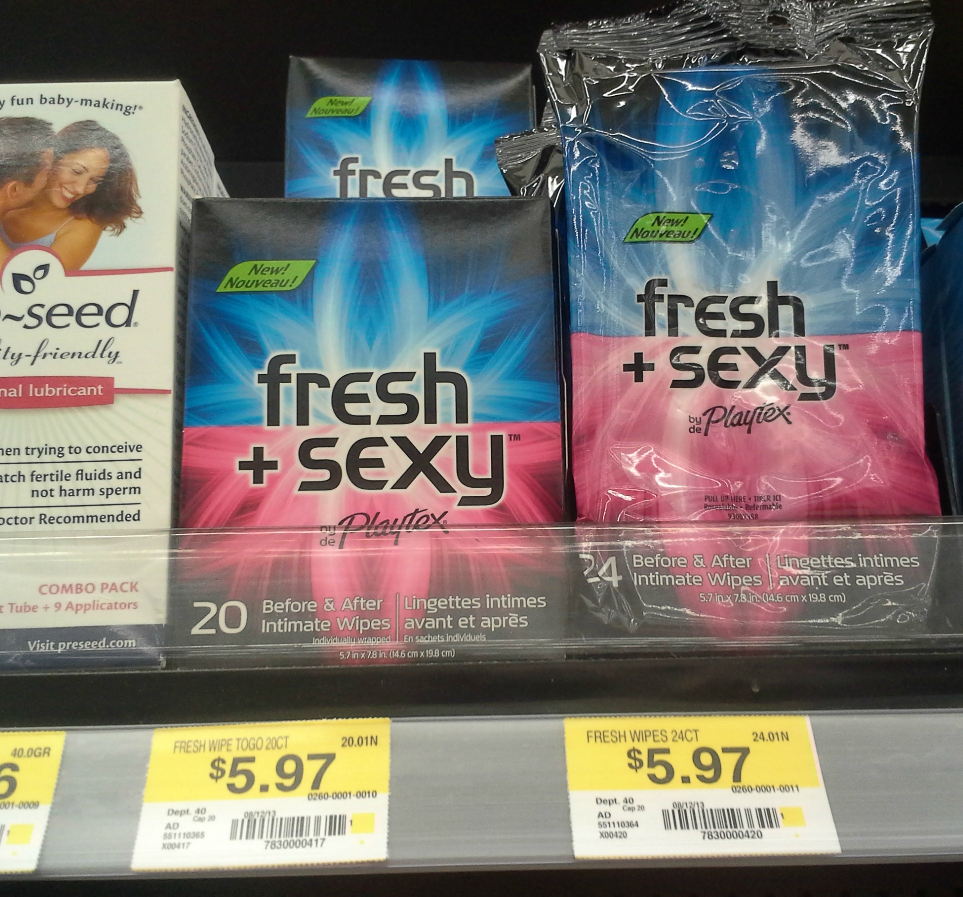 Playtex fresh and sexy wipes