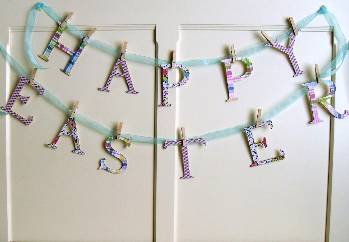 Easy Happy Easter Banner Tutorial   Optimistic Mommy