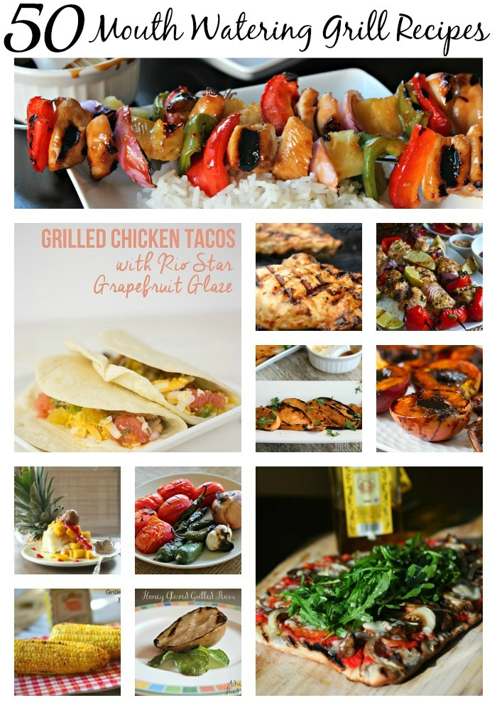 50 Grilled Recipes To Make Your Mouth Water! | Optimistic Mommy