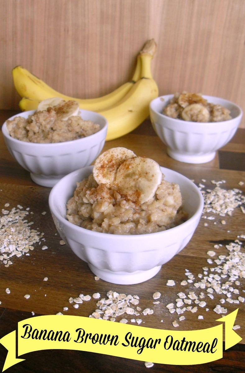 Banana Brown Sugar Oatmeal Recipe | Optimistic Mommy