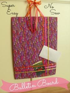 DIY Bulletin Board Tutorial | Optimistic Mommy