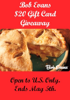 Bob Evans Broasted Chicken Meal Gift Card Giveaway