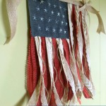 4th of July Crafts - DIY Fabric Flag | Optimistic Mommy
