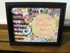 Kitchen Decor - Easy Dry Erase Menu | Optimistic Mommy