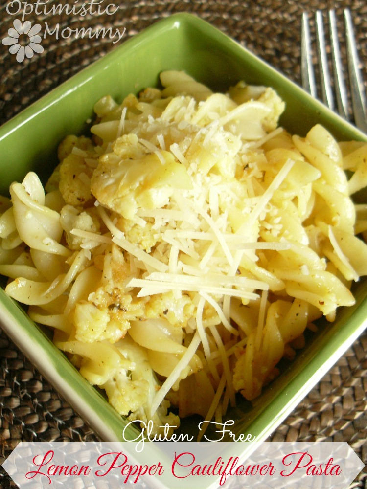 Gluten Free Lemon Pepper Cauliflower Pasta Recipe | Optimistic Mommy