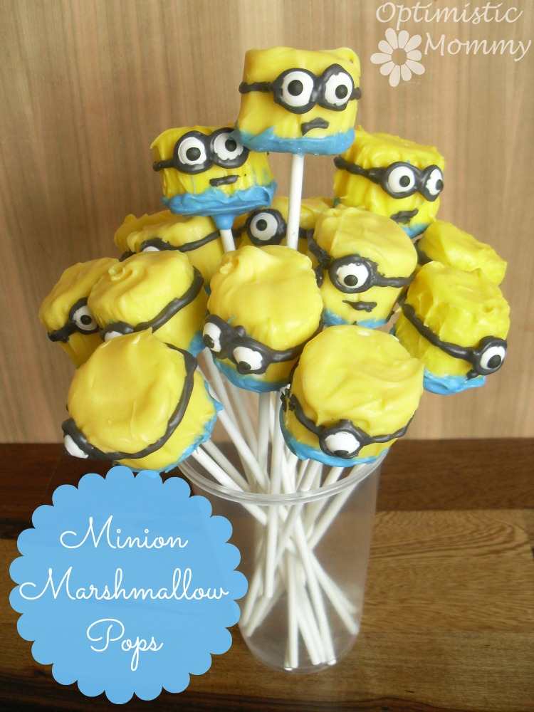 Despicable Me - Minion Marshmallow Pops | Optimistic Mommy