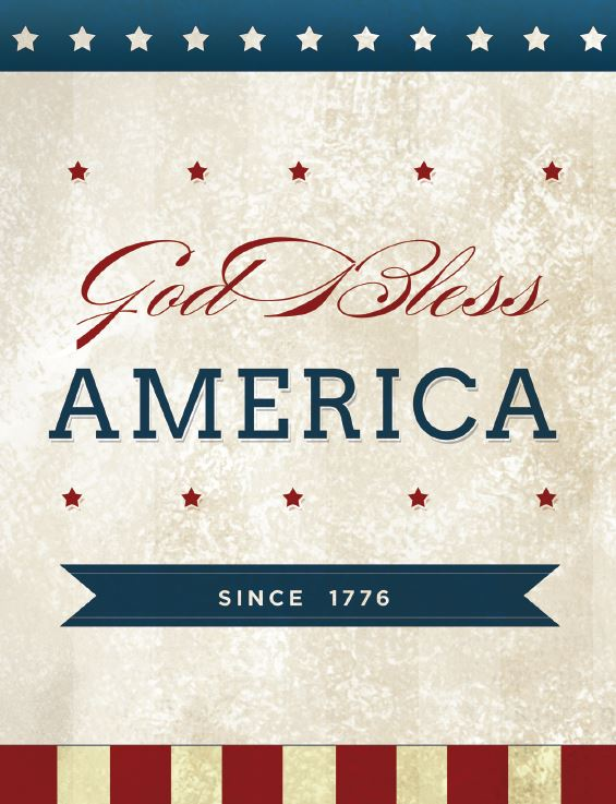 God Bless American Sign Patriotic Printables   Optimistic Mommy