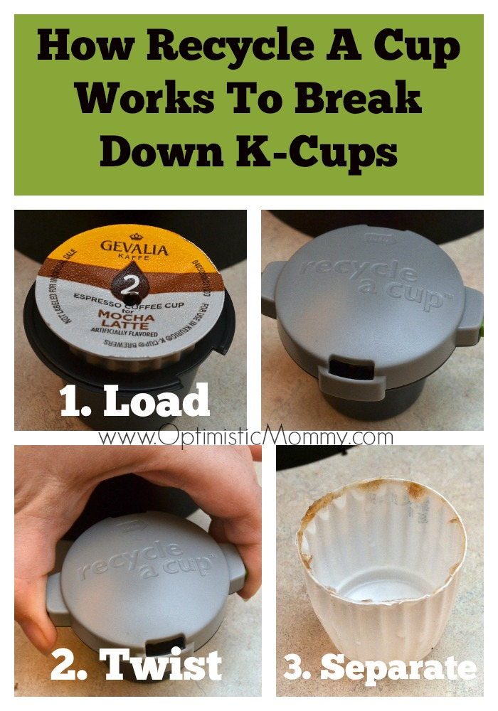 How Recycle A Cup Works To Break Down K-Cups | Optimistic Mommy