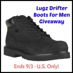 Lugz Drifter Boots For Men Giveaway (Ends 9/3 - U.S. Only) | Optimistic Mommy