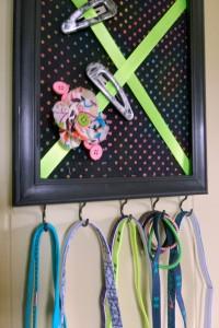 DIY Hair Accessories Organizer | Optimistic Mommy
