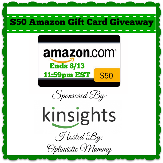 Kinsights.com - $50 Amazon Gift Card Giveaway