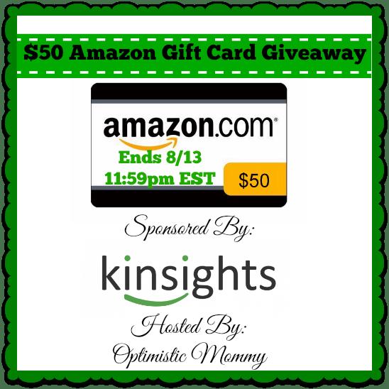 Kinsights.com - $50 Amazon Gift Card Giveaway