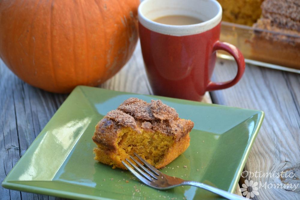 Maple Pumpkin Coffee Cake Recipe #CoffeeBuzz | Optimistic Mommy