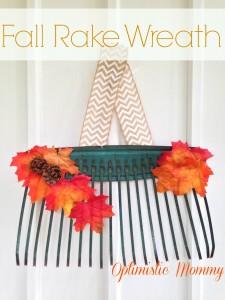 Fall Rake Wreath Tutorial | Optimistic Mommy