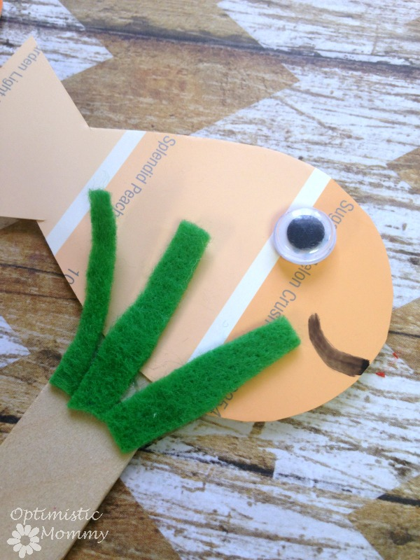 Bright Stanley Book Activities - Paint Chip Puppets | Optimistic Mommy | These paint chip puppets will be perfect to use while reading Bright Stanley as a family!