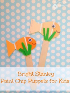 Bright Stanley Book Activities - Make these super cute paint chip puppets to play with while reading Bright Stanley as a family! | Optimistic Mommy