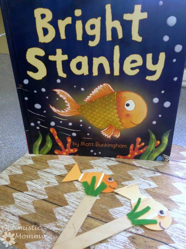 Bright Stanley Book Activities - Paint Chip Puppets | Optimistic Mommy | Have fun reading the book Bright Stanley with your children and then make pain chip puppets!