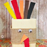 Make this super cute Thanksgiving Turkey Keepsake Box that is perfect for keeping recipes, photos and other keepsakes in it. It is easy to make! | Optimistic Mommy