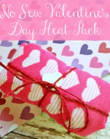 Show your sweetheart you love them when you craft this easy and inexpensive no sew Valentine's Day heat pack. You can craft your own heat pack in just minutes and using items from your local dollar store. The end result is the perfect solution to sore and aching muscles or just for warming cold skin. | Optimistic Mommy