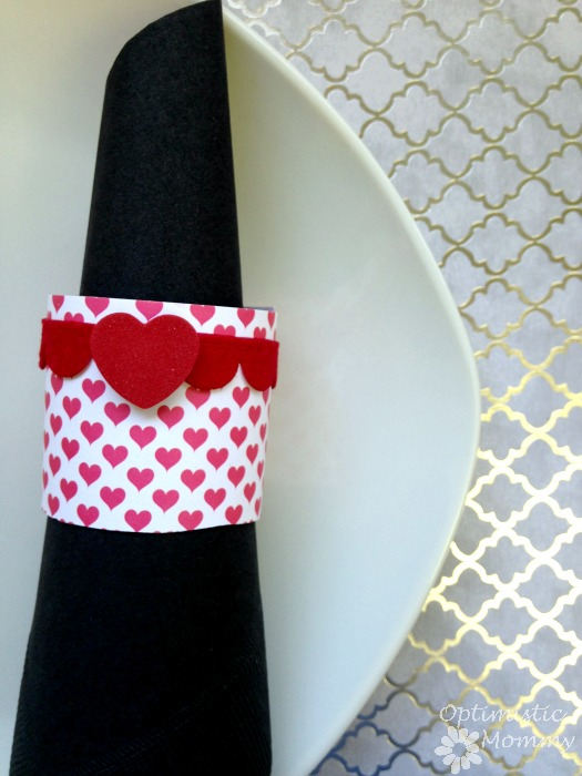 Valentine's Day Napkin Rings | Optimistic Mommy