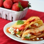 Strawberry Crepes with Goat Cheese and Basil | Optimistic Mommy