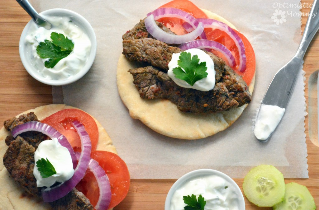 Steak Gyros Recipe | Optimistic Mommy