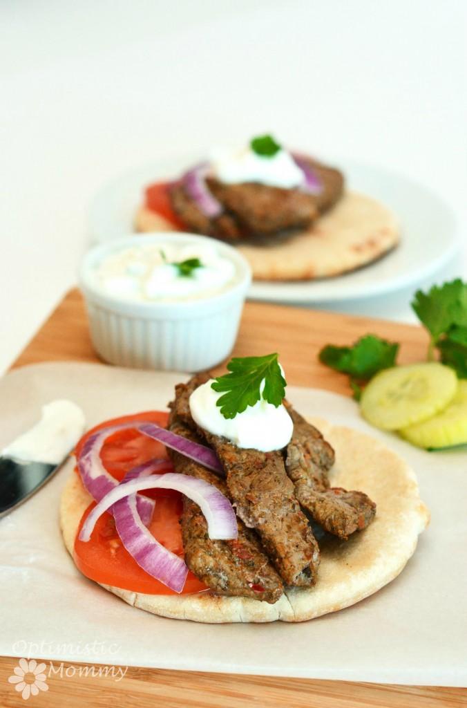 Steak Gyros Recipe | Optimistic Mommy