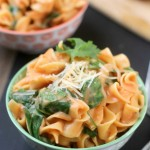 One Pot Creamy Spinach Noodles Recipe | Optimistic Mommy