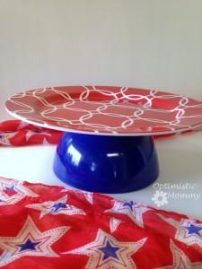 DIY Patriotic Cake Plate