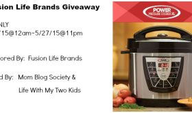 Fusion Life Brands Pressure Cooker #Giveaway (Ends 5/27)