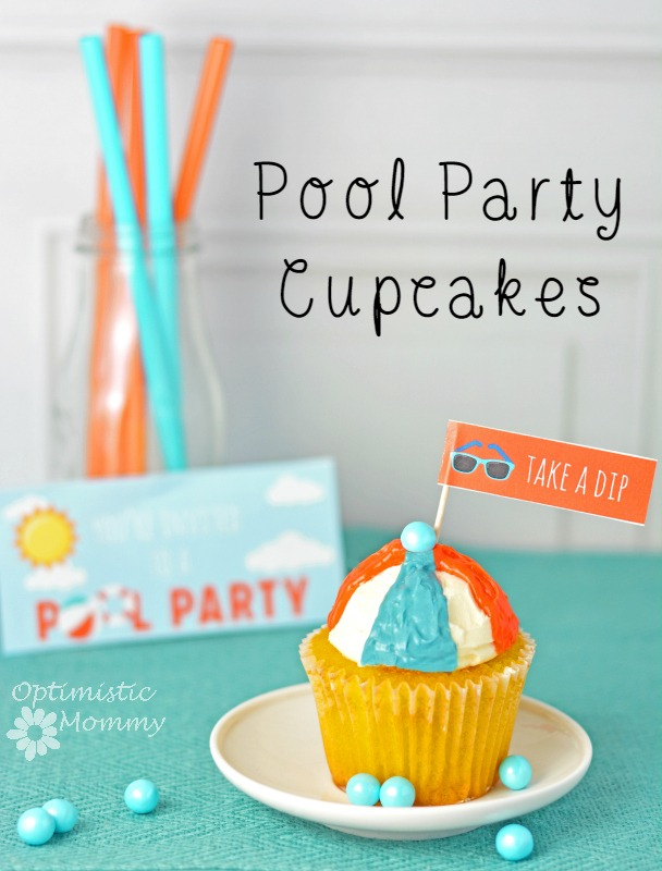 Pool Party Cupcakes #PowerOfThePool