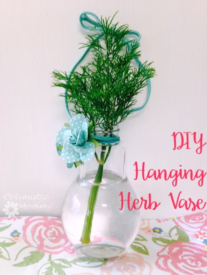 DIY Hanging Herb Vase