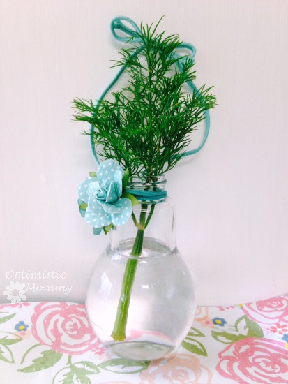 DIY Hanging Herb Vase