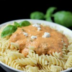 Roasted Tomato and Goat Cheese Pasta
