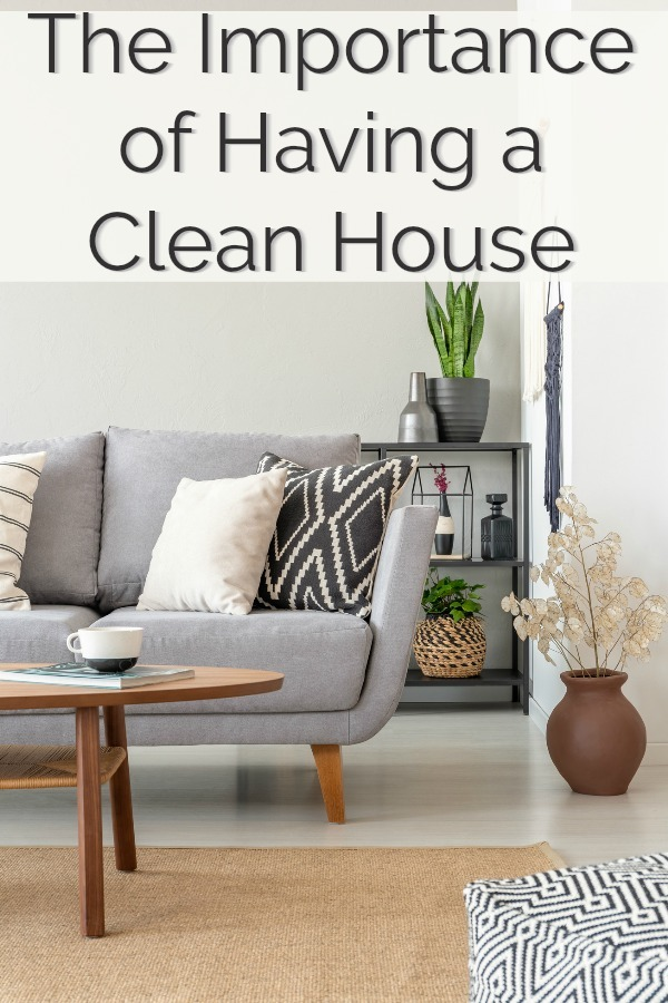 As tedious as the chore of cleaning house can be, making an effort to keep things tidy is extremely important to maintaining both mental and physical health. Find out a few reasons why it's important to have a clean home and a few practical ways to accomplish this! #home #house #clean