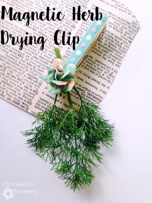 Magnetic Herb Drying Clips by Optimistic Mommy