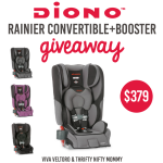 Diono Rainier Convertible Car Seat Giveaway (Ends 9/30)