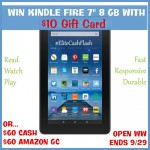 New Kindle Fire & $10 Gift Card Giveaway (Ends 9/29) #EliteCashFlash