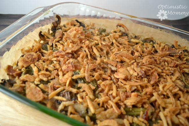 Bacon and Mushroom Green Bean Casserole -02