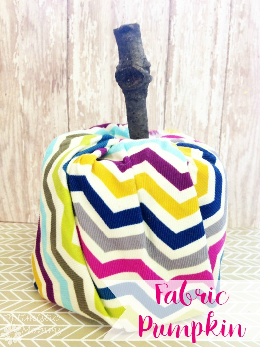 Fabric Pumpkin Tutorial | Optimistic Mommy