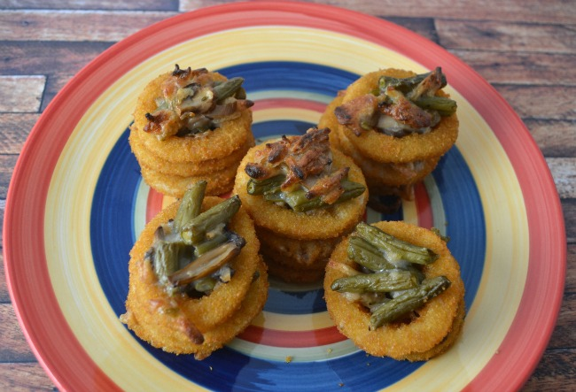 Green Bean Casserole Onion Stacks -02
