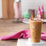 Try Dunkin' Donuts new Baskin-Robbins Pistachio Coffee Beverages!