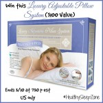 Luxury Adjustable Pillow System Giveaway (Ends 3/11 at 7:30pm EST)